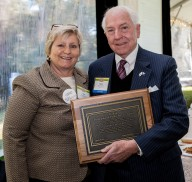 Bar Foundation President Bev. Carroll with the 2013 DuRant Award recipient, Mark W. Buyck Jr.